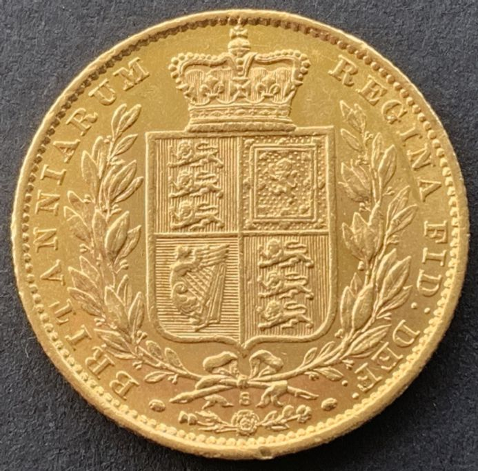 1880 Gold  Sovereign Coin Sydney Mint